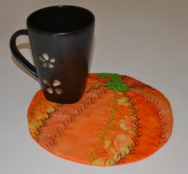 Pumpkin Crazy Quilt Mug Rug Pellon 174 Projects